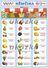Obrázková němčina 2 - Ovoce a zelenina (oboustranná tabulka, A5)