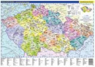 ČR- příruční administrativní a obecně zem. mapa
