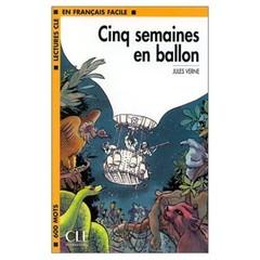 Cinq samaines en ballon - Pět týdnů v balónu (Niveau 1)