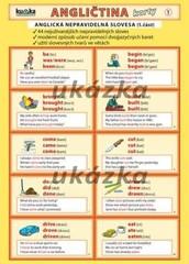Angličtina karty 1 - anglická nepravidelná slovesa (skládačka A5, 8 stran)