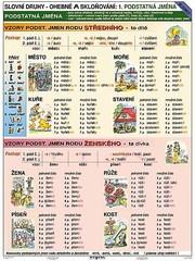 Vzory - Podstatná jména (tabulka A4)