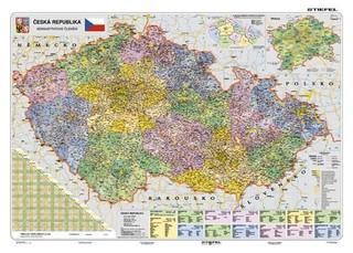 Česká republika - administrativní členění (lamino, A3)