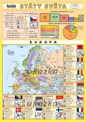 Státy světa (skládačka A4, 8 stran)