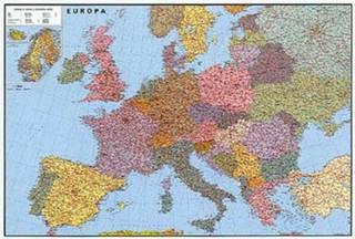 Evropa - silniční velká nástěnná mapa (156 x 114 cm)