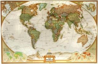 Obří svět National Geographic - nástěnná mapa (185 x 122 cm)