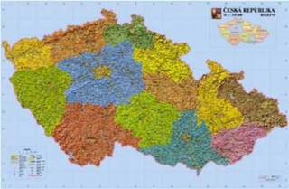 Česká republika - reliéfní nástěnná mapa (160 x 110 cm)