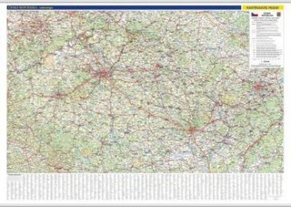 Česká republika - nástěnná automapa (1360 x 970 mm)
