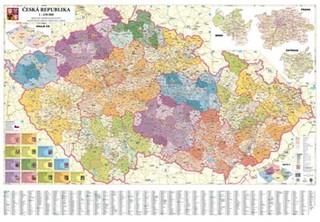 Česká republika - obří administrativní mapa (200 x 140 cm)