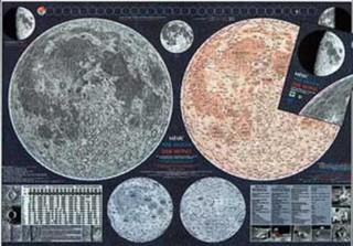 Měsíc - nástěnná mapa (113 x 83 cm)