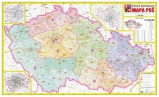 Česká republika - nástěnná mapa PSČ (113 x 70 cm)