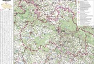 Liberecký kraj - nástěnná mapa (113 x 83 cm)