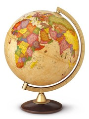Globus Discovery - světelný (25 cm, dřevo)