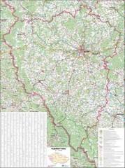Plzeňský kraj - nástěnná mapa (113 x 83 cm)