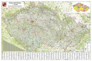 Česká republika - velká nástěnná automapa (2 x 1,35 m)