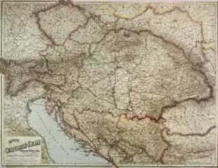 Rakousko-Uhersko - nástěnná mapa (88 x 70 cm)