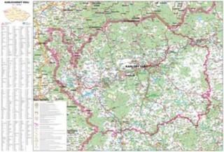 Karlovarský kraj - nástěnná mapa (100 x 70 cm)