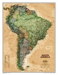 Jižní Amerika - nástěnná mapa (National Geographic)