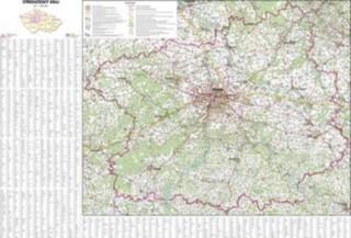 Středočeský kraj - nástěnná mapa (113 x 83 cm)