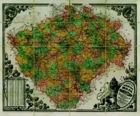 Království české - nástěnná mapa (120 x 100 cm)