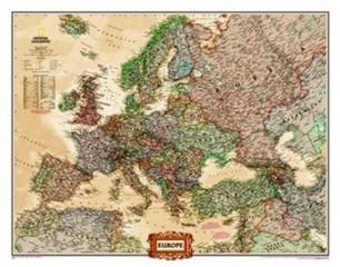 Evropa - nástěnná mapa National Geographic (116 x 90 cm)