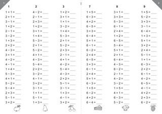 Matematické pětiminutovky - I.díl pro 1.ročník ZŠ (pro 30 žáků)