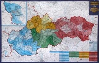 Slovenská republika - nástěnná mapa PSČ (120 x 80 cm)