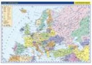 Evropa - nástěnná politická mapa školní