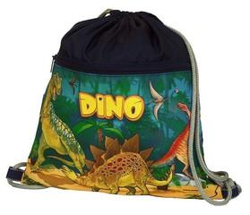 Sáček na cvičky Dino (velký s kapsou na zip)