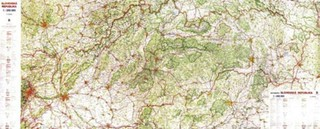 Slovenská republika - nástěnná mapa silniční velká (210 x 90 cm)