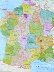 Francie - spediční nástěnná mapa