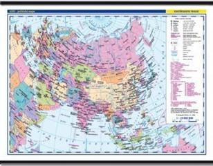 Asie - nástěnná politická mapa školní