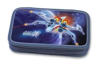 Školní penál Galaxy (dvoupatrový)