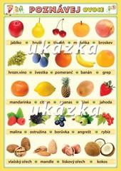 Poznávej 1 - ovoce, zelenina (oboustranná tabulka)