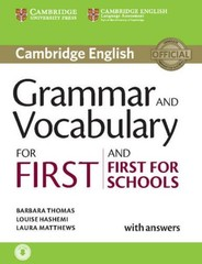 Grammar and Vocabulary for First an First for Schools with answers